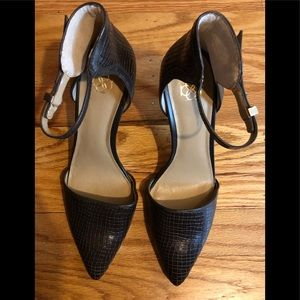 New Ann Taylor Katia Leather Ankle Strap Heels